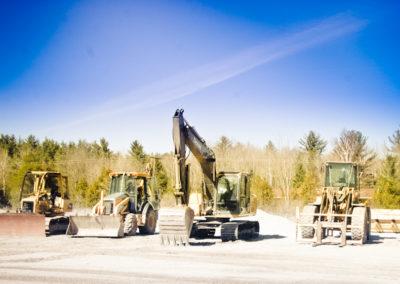 Backhoe and Excavator