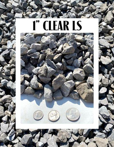 "1"" clear limestone"