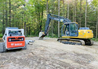 bobcat and excavator