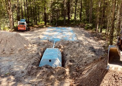 septic tank and field